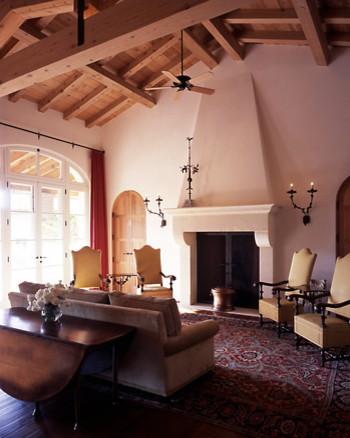Ryan Associates - New Homes - Northern California Residence mediterranean-living-room