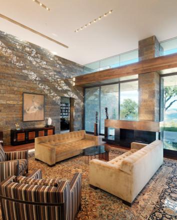 Ryan Associates - New Homes - Sonoma Valley Residence modern-living-room
