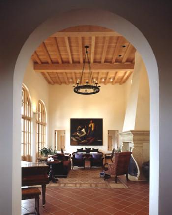 Ryan Associates - New Homes - Vineyard Residence mediterranean-living-room