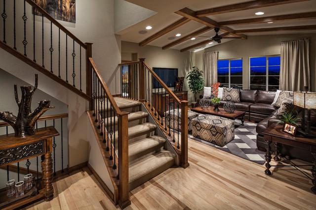 Ryland Homes McClelland's Creek Bliss Model Home traditional-living-room