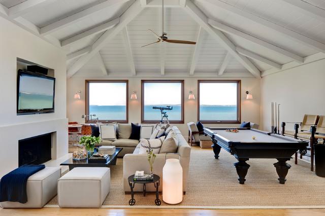 Sag Harbor, NY beach-style-living-room