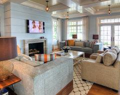 Sag Harbor, NY Residence beach-style-living-room