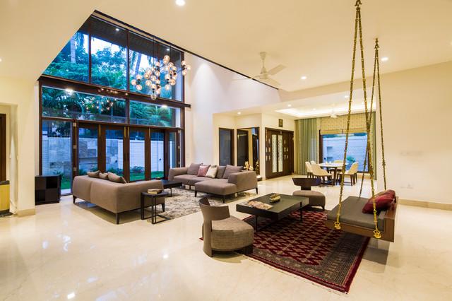 Salem House Asian Living Room