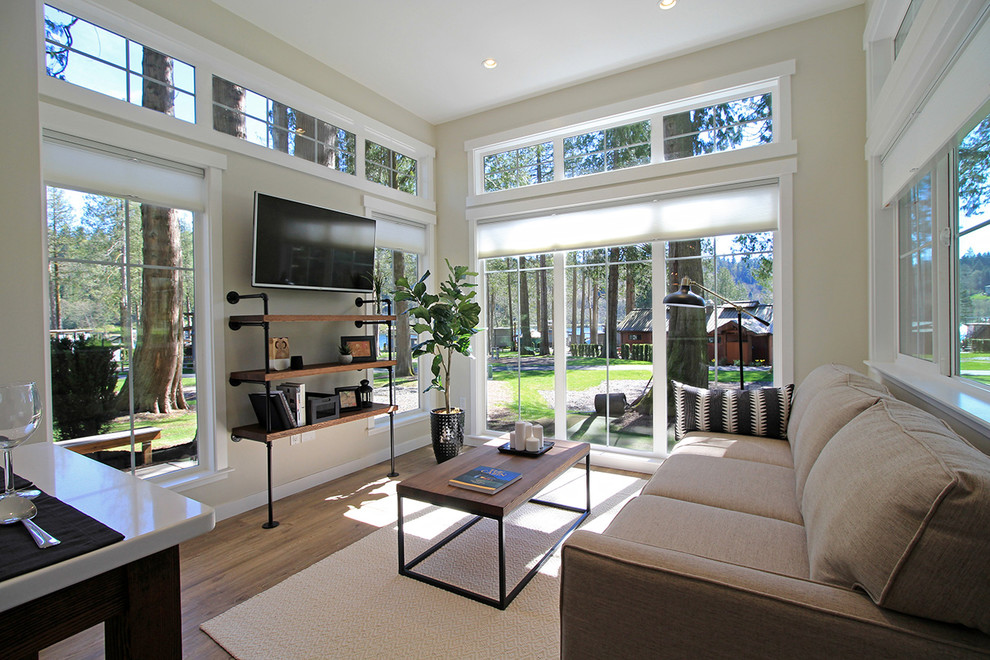 Salish Tiny Home 10 Craftsman Living Room Seattle By West Coast Homes