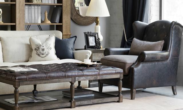 Salon living room shabby chic style living room - Shabby chic living room chairs ...