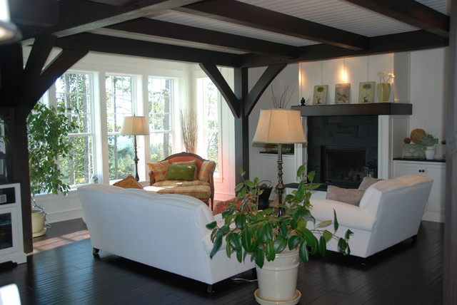 Salt Spring Island Residence traditional-living-room