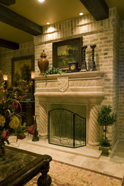 Sam allencustom home design traditional living room Decorative hearth
