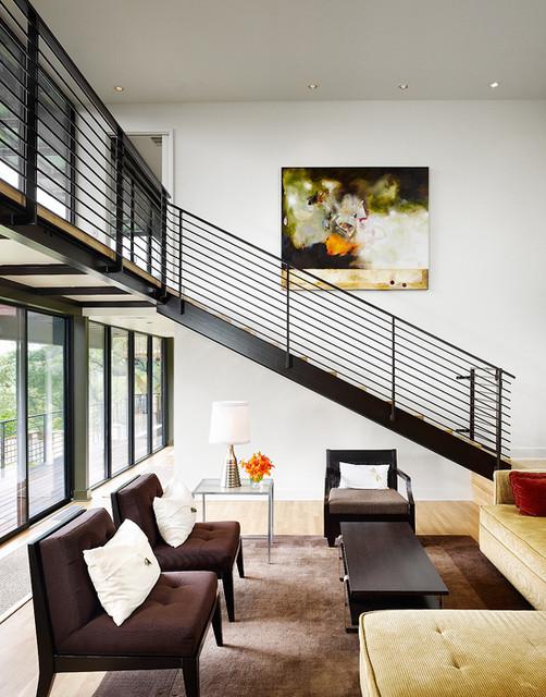 Sam Houston House modern-living-room