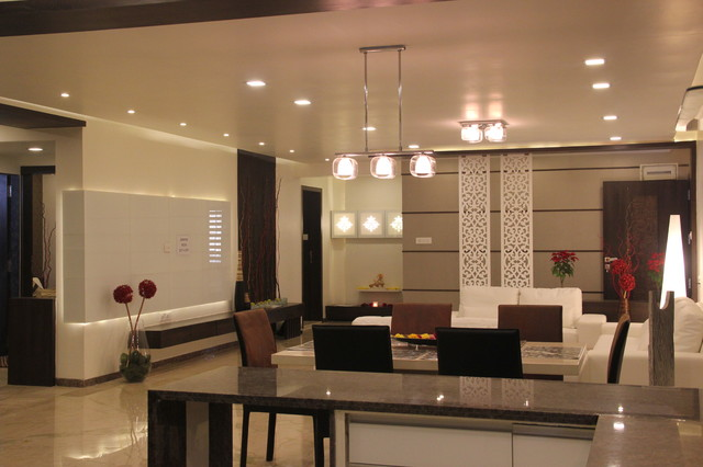 Sample Flat For Imperial Regency At Vesu Surat Contemporary Living Room