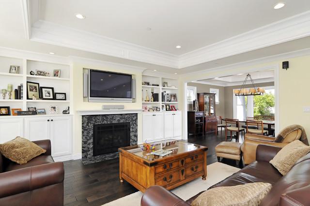 San Carlos Craftsman 2nd Story Addition craftsman-living-room