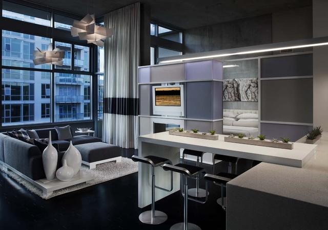 San Diego Downtown Condo contemporary-living-room