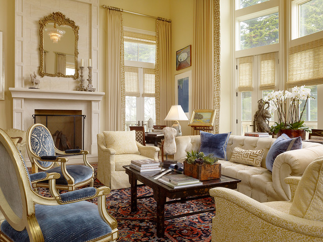 San francisco city chateau traditional living room for Classic home designs inc