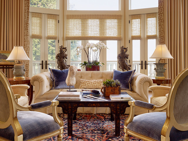 tres interesantes estilos para decorar - Traditional Living Room Design Ideas