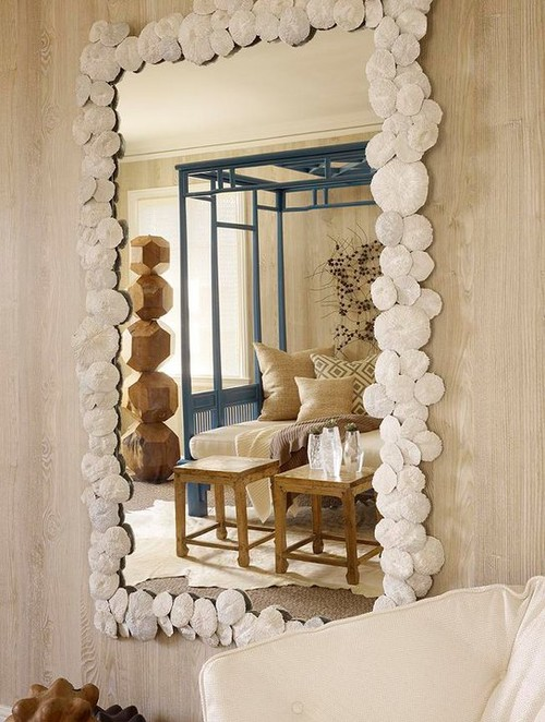 #1 U2013 Sand Dollar Mirror. Sand Dollar Frame. Tropical Living Room Design ...