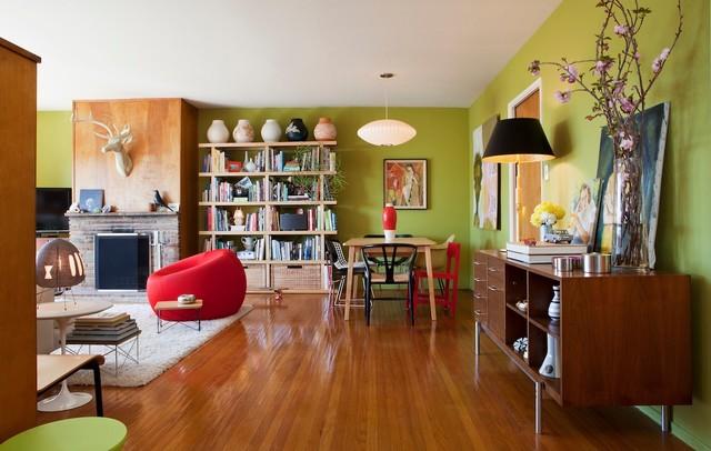 San francisco mid century mix eclectic living room - Mid century interior design ...
