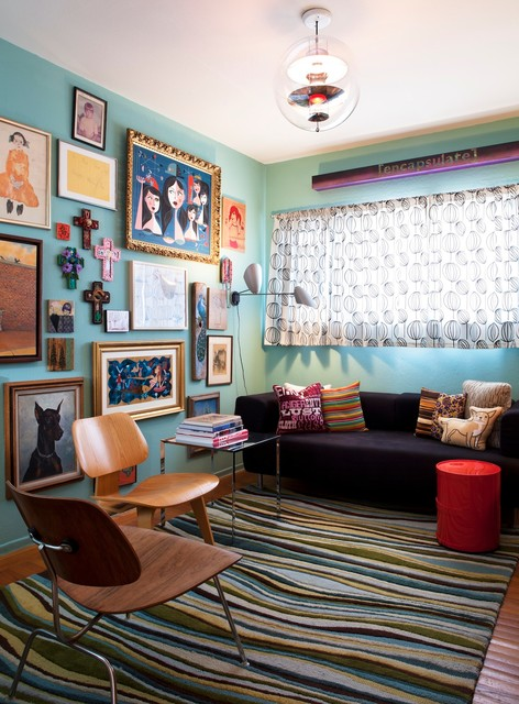 San Francisco Mid Century Mix Eclectic Living Room