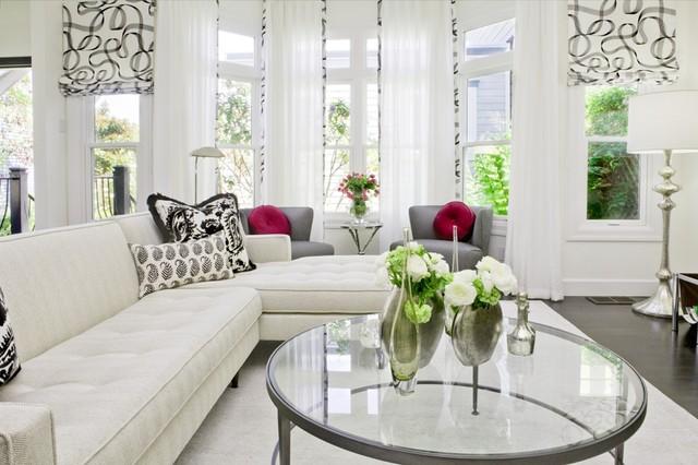 San Francisco White & Light Living Room modern-living-room