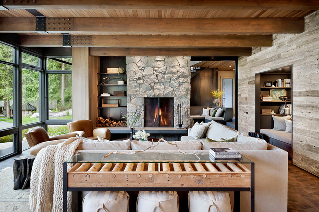 Houzz Tour Modern Rustic Style For A Pacific Northwest Family