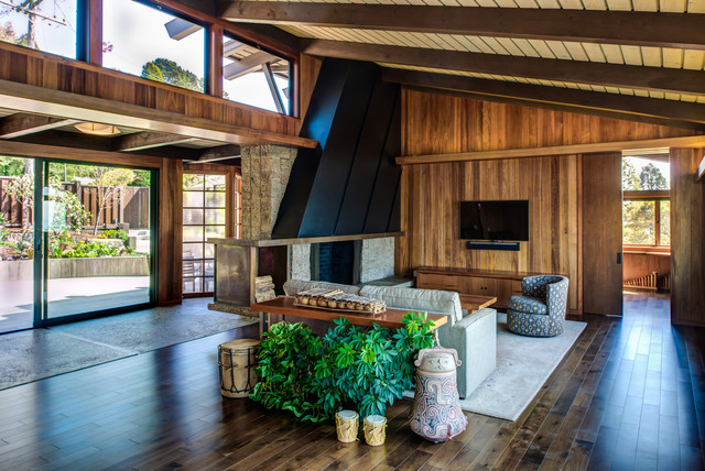 Inspiration for a 1960s living room remodel in San Francisco