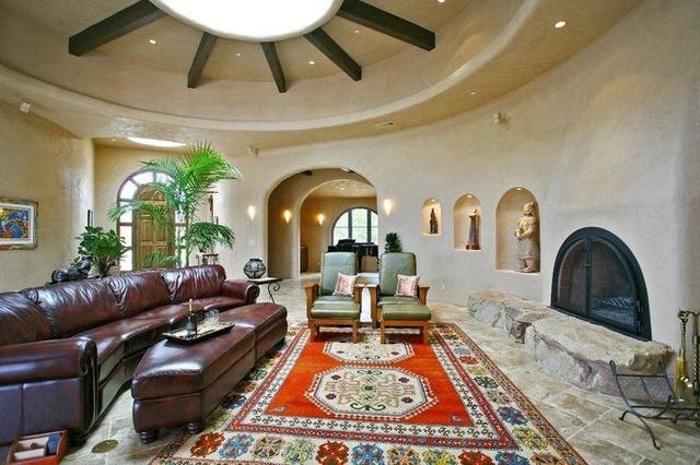 San Luis Rey custom home mediterranean-living-room