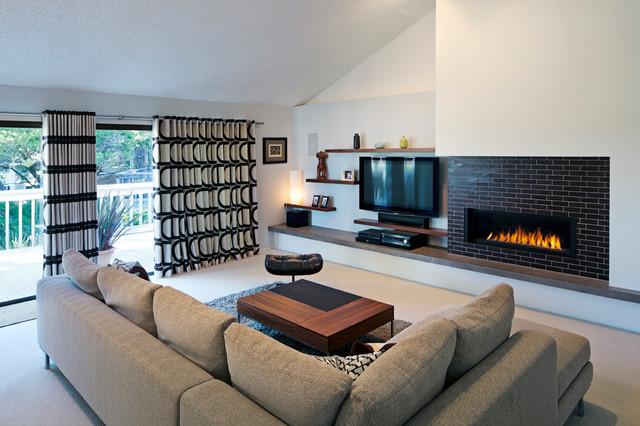 San Rafael Mid Century modern-living-room