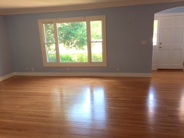 Sand And Finish Red Oak Floors Semi Gloss Traditional Living Room