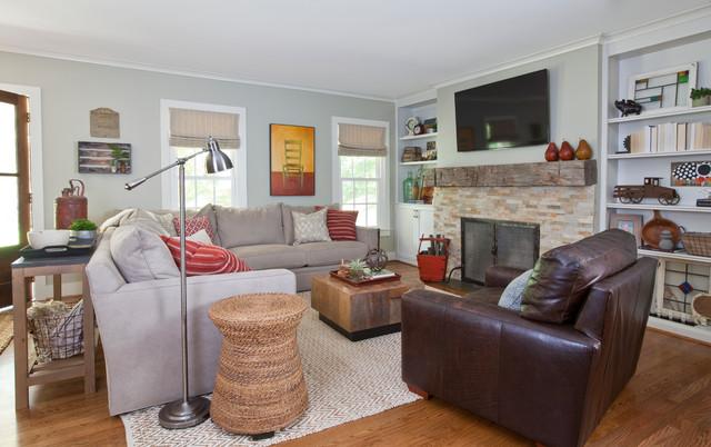 Sandy Springs Ga Transitional Living Room Atlanta