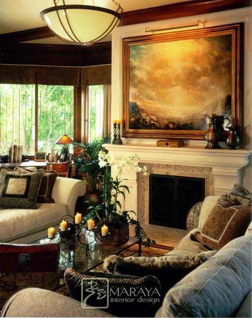 Santa Barbara Craftsman Living Room craftsman-living-room