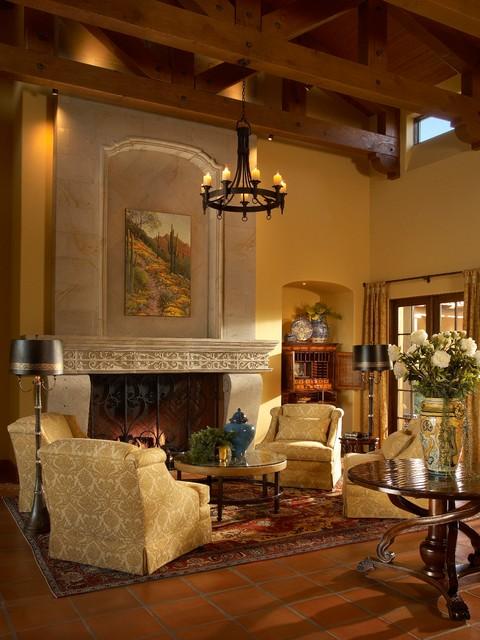 Santa Barbara Style Mediterranean Living Room