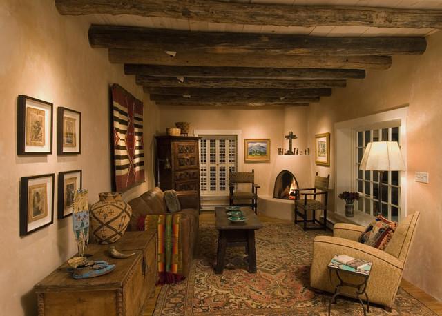 Santa fe home rustic living room albuquerque by j for Rustic home albuquerque