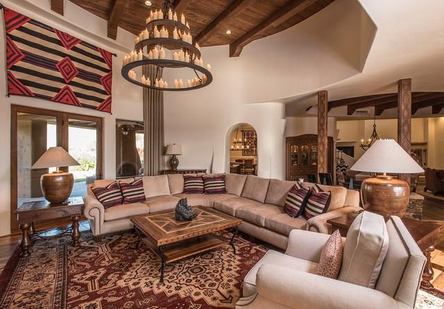 Santa Fe Luxury Southwestern Living Room Phoenix