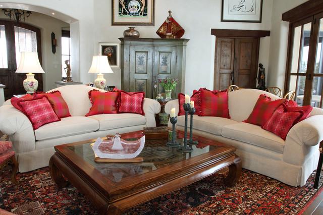 Santa Fe Residence southwestern-living-room