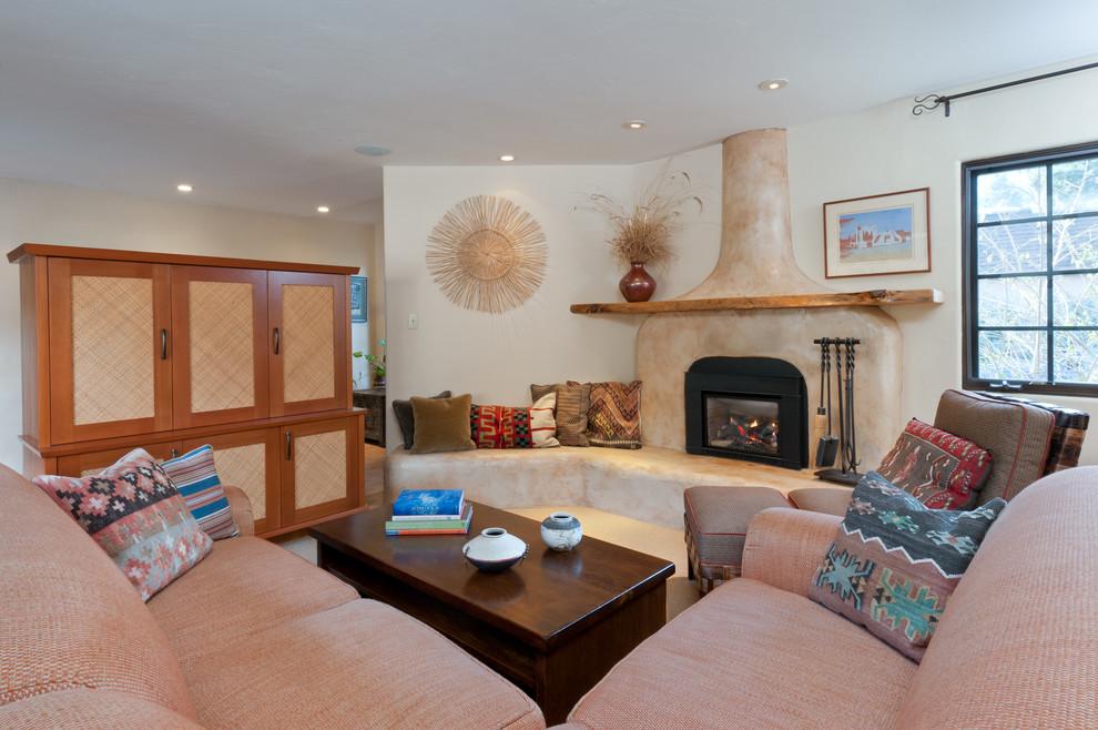 Santa Fe style remodel - Eclectic - Living Room - San ...