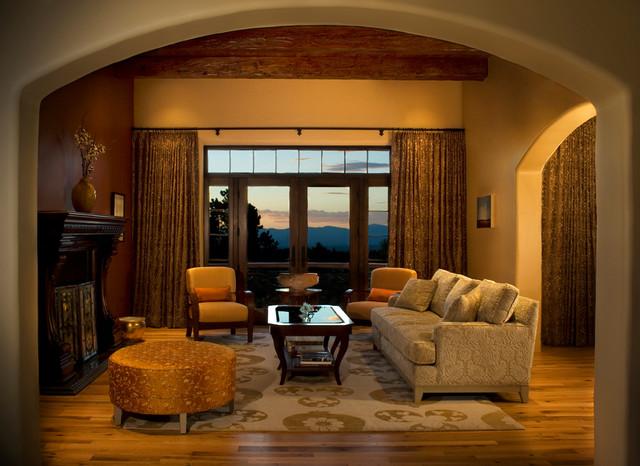 Santa Fe Summit Traditional Living Room Albuquerque By Bob Di Janni Custom Homes Inc