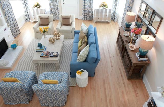 Santa Monica Bungalow Traditional Living Room Los Angeles By Carolyn Greco Interior Design