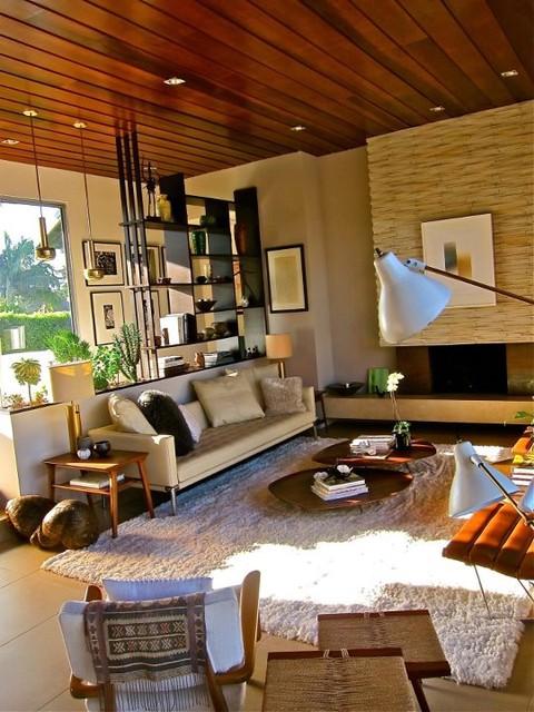 mid century modern sunken living room santa monica mid century