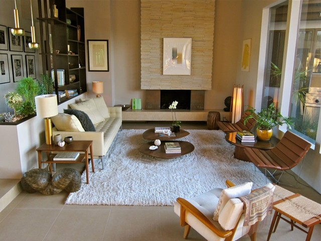 Santa monica mid century modern living room los for Family room los angeles