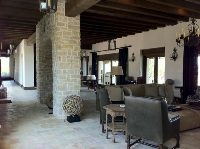 Santa Teresa Ranch, New Ulm, Texas mediterranean-living-room