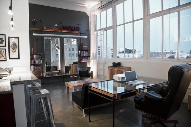 Santee court loft industriel salon los angeles par cush design studio - Loft design industriel cloud studio ...