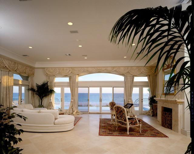 Sarasota Longboat Key Club Beachfront mediterranean-living-room