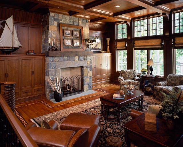 Saratoga Lake House Traditional Living Room Boston