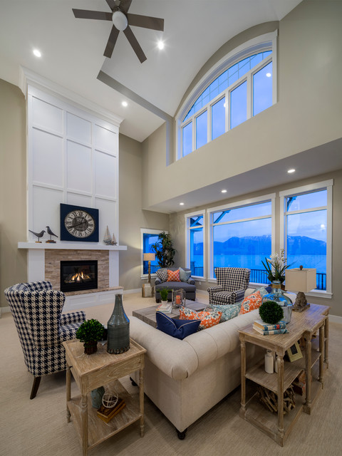 Saratoga Springs Residence transitional-living-room