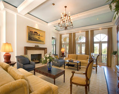 "Sater Group's ""Villoresi"" Custom Home Design mediterranean-living-room"