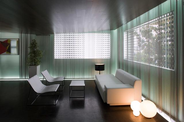 SatinDeco Acid Etched Glass modern-living-room