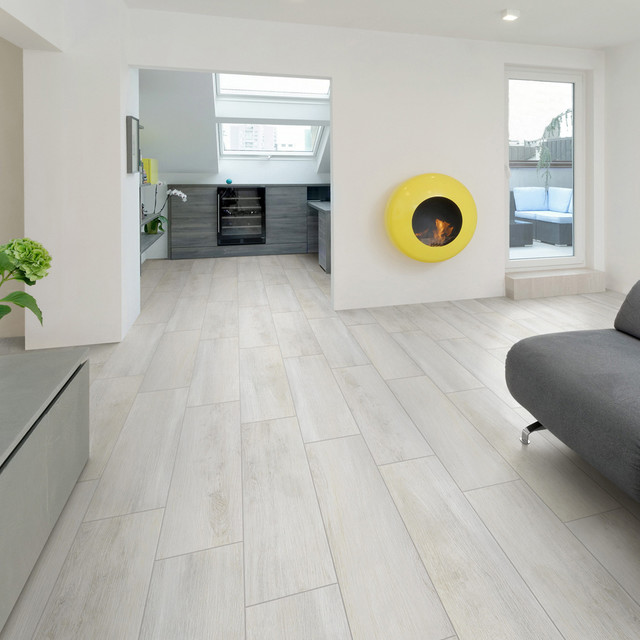 Modern Living Room Flooring Ideas: Sav Wood Bianco Glazed Porcelain