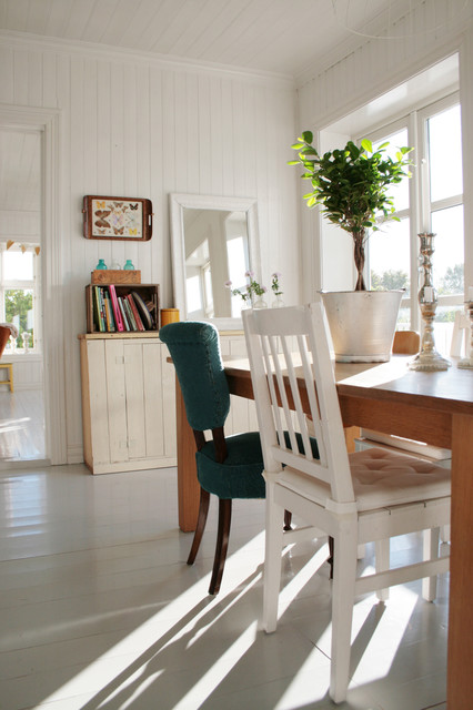 My white Scandinavian home. Splash of colors. Old & new. Always in change. contemporary-living-room