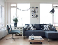 Scandinavian style on a budget in a small city apartment eclectic living room