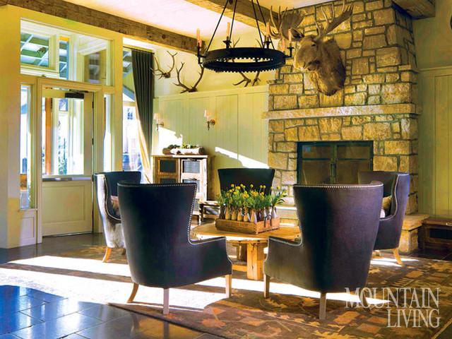 Scarp Ridge Lodge traditional-living-room