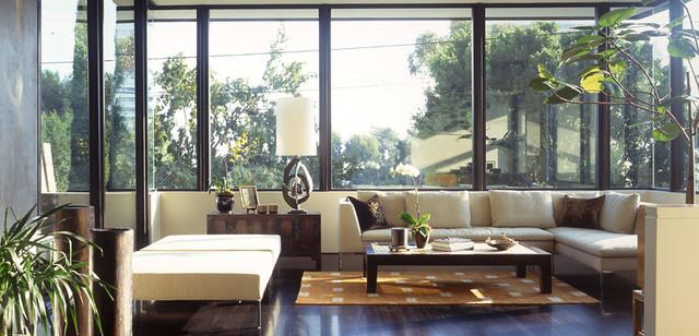 Schector Residence modern-living-room
