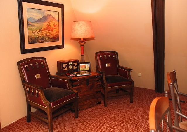 Scott's Lake House eclectic-living-room